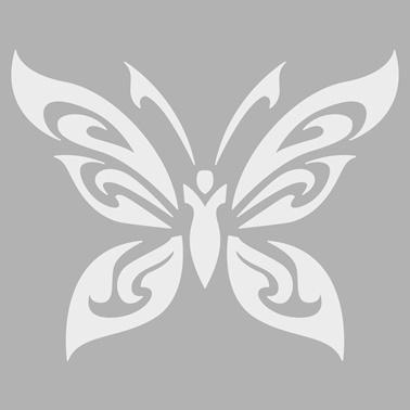 Artikel Tribal Kelebek Stencil Tasarımı 30 x 30 cm Renkli